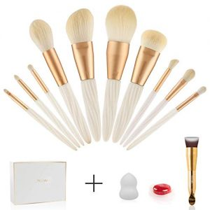 Professional Makeup Brush Set - 10PCS Make Up Cosmetics Brushes