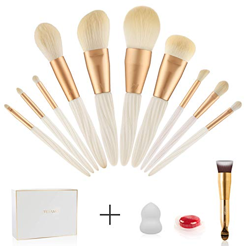 Professional Makeup Brush Set - 10PCS Make Up Cosmetics Brushes