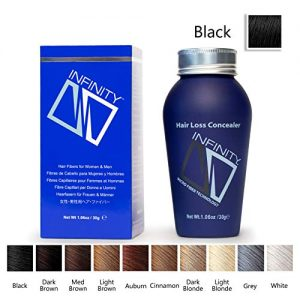 Infinity Hair Fiber - Hair Loss Concealer - Hair Thickening Fiber for Men & Women