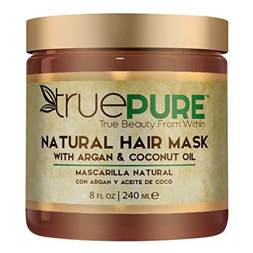 TruePure Natural Hair Mask With Argan Oil, Coconut Oil, Jojoba & Saw Palmetto