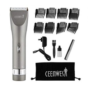 CEENWES Updated Version Professional Hair Clippers Cordless Haircut Kit