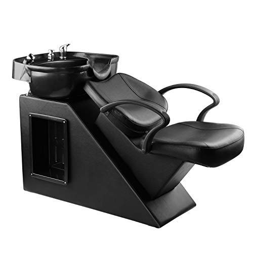 Ainfox Shampoo Barber Backwash Chair, ABS Plastic Shampoo