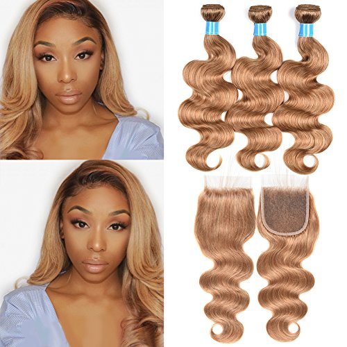 JulyQueen Brazilian Human Virgin Hair Honey Blonde Color Body Wave