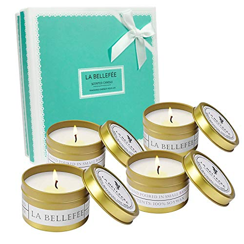 LA BELLEFÉE Scented Candle Soy Wax Travel Tin Aromatherapy Candles