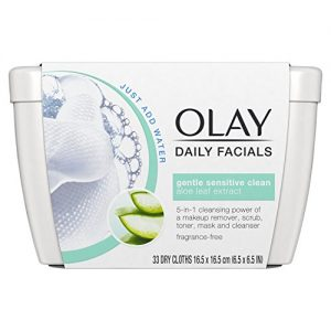 Olay Daily Sensitive Cleansing Cloths Tub with Aloe Extract
