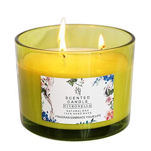 YCYH Citronella Scented Candles Outdoor Indoor Aromatherapy Stress Relief