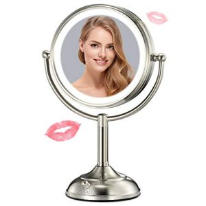 "VESAUR Professional 7.5"" Lighted Makeup Mirror, 10X Magnifying Vanity Mirror"
