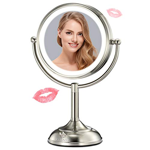 "VESAUR Professional 7.5"" Lighted Makeup Mirror, 10X Magnifying Vanity Mirror"