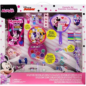 Townley Girl Minnie Mouse Cosmetic Set with Lip Gloss, Nail Polish