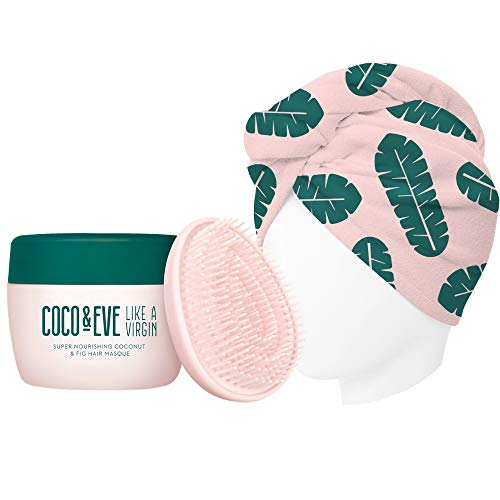 Coco & Eve That's A Wrap Bundle. Hair Mask, Tangle Tamer and Microfiber Hair