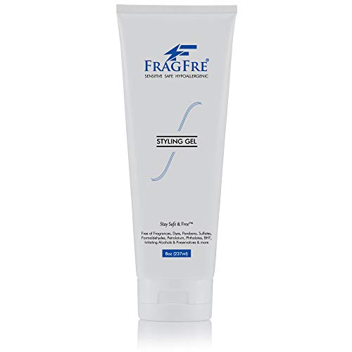 FRAGFRE Styling Gel Fragrance Free 8 oz - Hair Styling Gel for Sensitive Skin