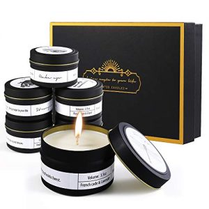 Priksia Scented Candles Gift Set, Natural Soy Wax 3.5 Oz Unit Portable Jar Candles