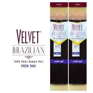 Outre Remy Human Hair Weave Velvet Brazilian Perm Yaki