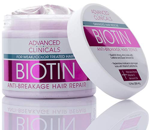 Advanced Clinicals Biotin Anti-Breakage Hair Repair Mask