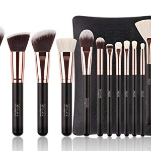 Luxury 15 pc Rose Gold Makeup Brush Set