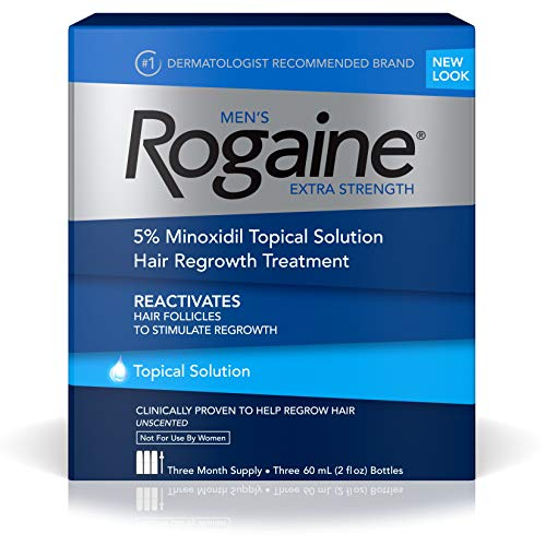Men's Rogaine Extra Strength 5% Minoxidil Topical Solution for Hair Loss