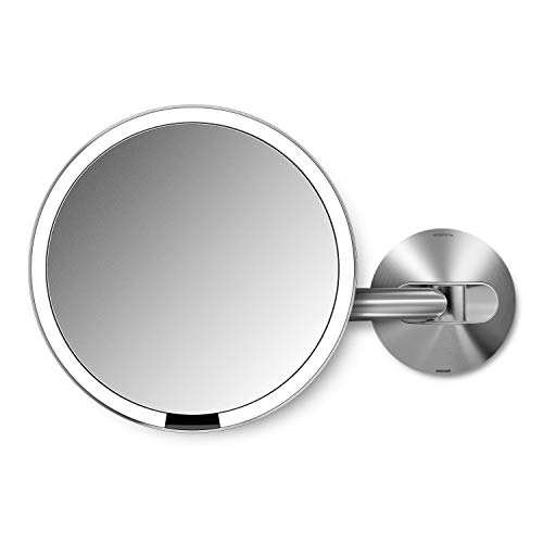 "simplehuman Sensor Lighted Makeup Vanity Mirror 8"" Round Wall Mount"