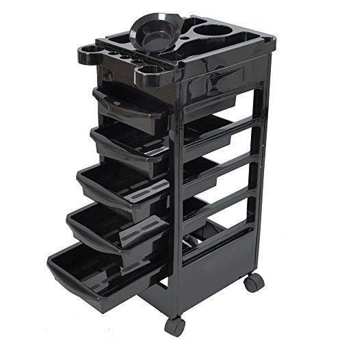Salon SPA Trolley Storage Cart Coloring Beauty Salon Hair Dryer Holder