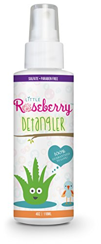 Hair Detangler Spray for Kids. Made with Organic Aloe Vera Juice