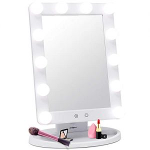 AirExpect Makeup Vanity Mirror with Light Bulbs - 3 Color Lighting Modes