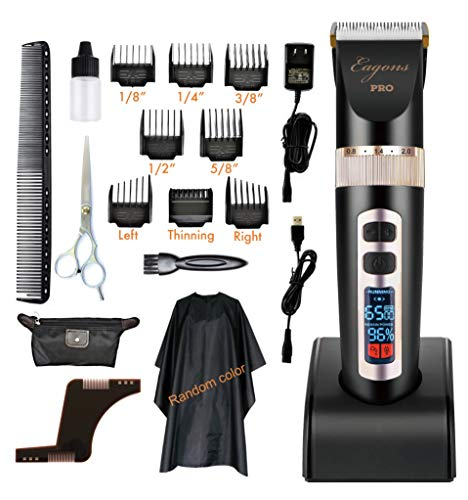 Professional hair clipper, ultra quiet design, 2000mAH Li-ion battery