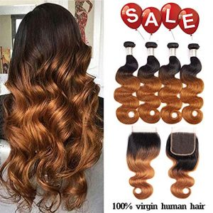 Finest Remy Ombre Brazilian Hair Body Wave 2 Tone Ombre Bundles Body Wave