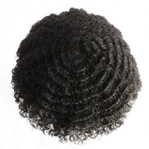 Lumeng AfroToupee For Men African American Wigs for Men