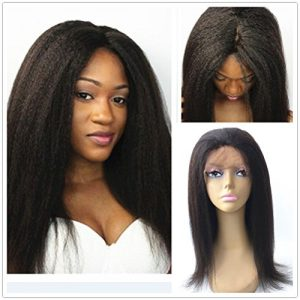 JYL Hair Italian Yaki Silk Top Lace Frontal Wig Pre Plucked Hairline