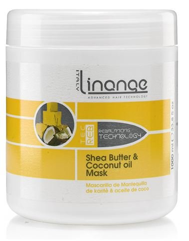 Linange Shea Butter and Coconut Oil Mask 1000ml; Softening, Strengthening
