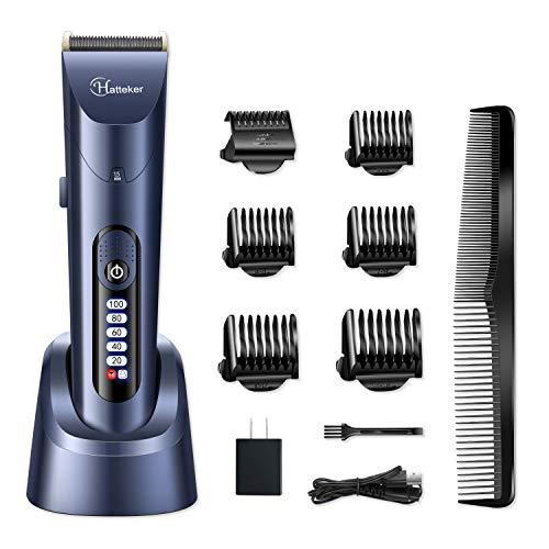 HATTEKER Hair Clippers for Men Cordless Hair Trimmer