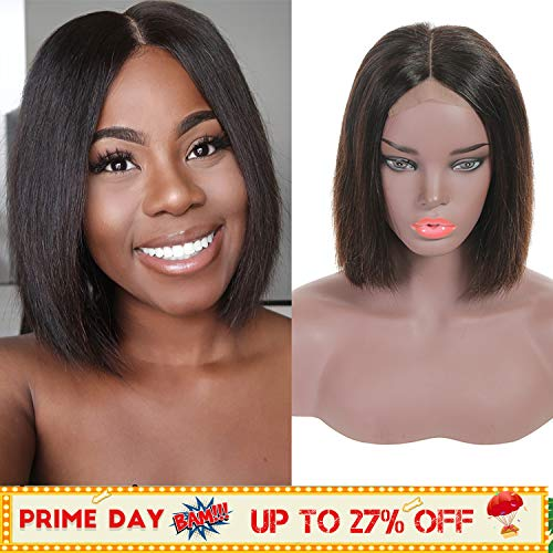 Short Bob Lace Frontal Wig 10 Inch Human Hair Middle Part