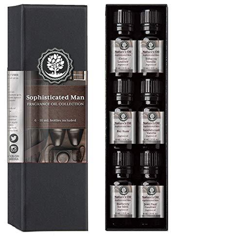 Sophisticated Man Fragrance Oil Set Top 6 Mens 10ml for Cologne