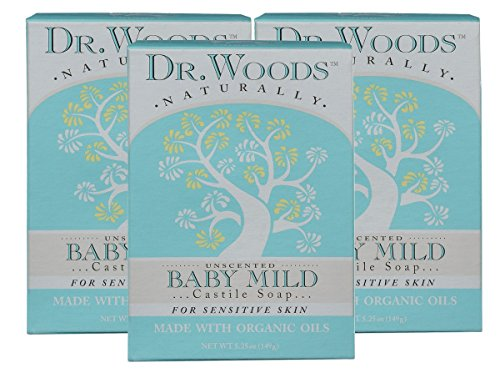 Dr. Woods Unscented Baby Mild Bar Soap with Organic Shea Butter