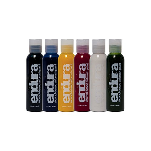 European Body Art EBA Endura 6 Color Airbrush Body Paint Pack