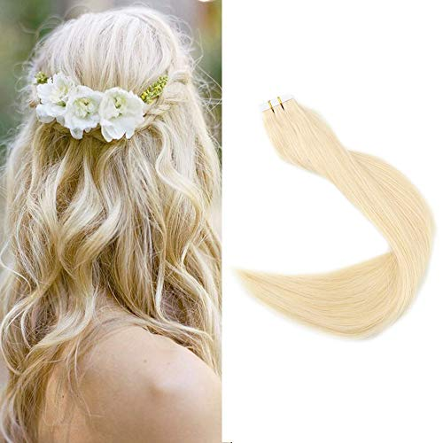 """Full Shine 18"""" Color Blonde Remy Straight Human Hair Extensions"""
