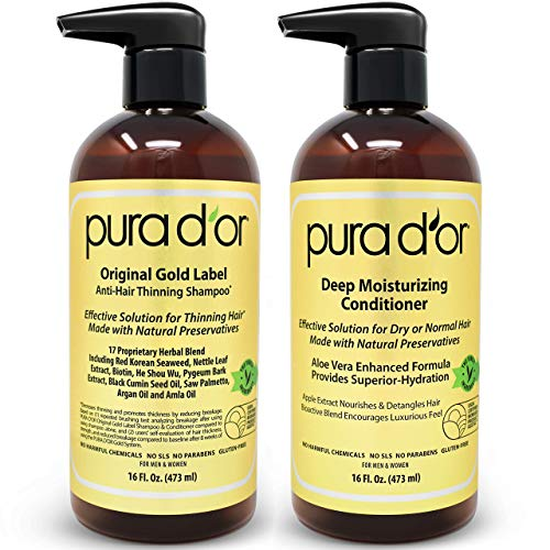 PURA D'OR Biotin Anti-Thinning Deep Moisturizing Gold Label Shampoo