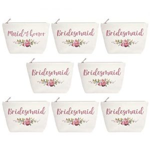 ElegantPark Maid of Honor Bridesmaid Cosmetic Bag Set