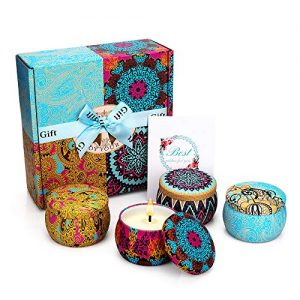 Yinuo Mirror Scented Candles Gift Set, Natural Soy Wax 4.4 Oz Portable Travel