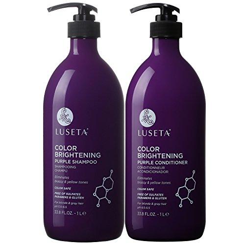 Luseta Color Brightening Purple Shampoo and Conditioner Set