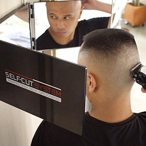 SELF-CUT SYSTEM Travel Version - Three Way Mirror for Self Hair Cutting