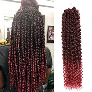 7 Packs Passion Twist Hair 18 Inch Bohemian Crochet Braids for Passion