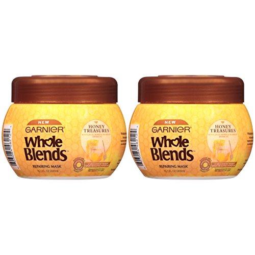 Garnier Whole Blends Honey Treasures Repairing Hair Mask for Dry Damaged Hair