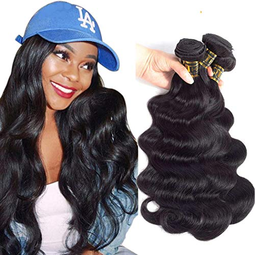 QTHAIR 10a Brazilian Body Wave Human Hair(16 16 16,300g,Natural Black)
