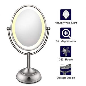 Lighted Makeup Mirror, LED Makeup Mirror with Magnification