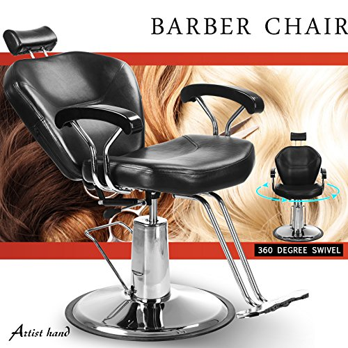 Artist Hand Hydraulic Reclining Barber Chair 360 Degrees Rolling