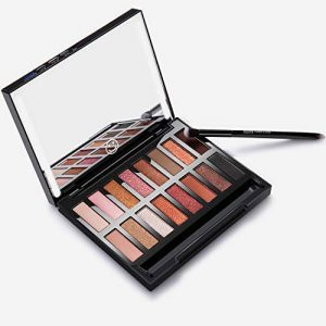 Nudetude Eyeshadow Palette Makeup Kit, 16 Pro Pigmented Shimmer Matte