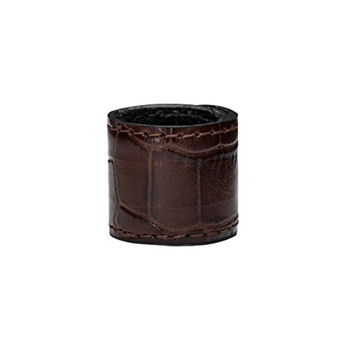 Ponytail Holder Leather Brown (TEXTURED- see 2 more colors) by DesignerTails