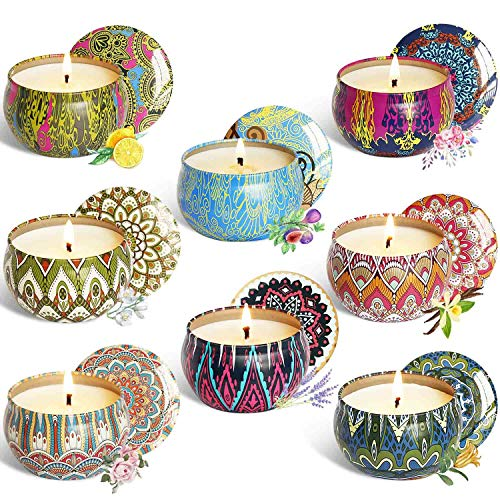 YCYH Scented Candles Gift Sets, Natural Soy Wax 2.5 Oz Unit Portable Travel