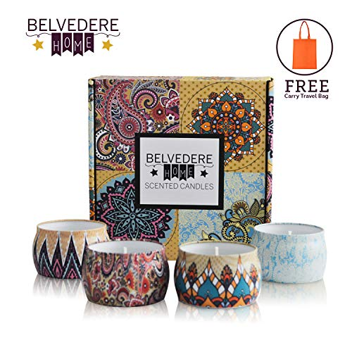 Belvedere Home Scented Candles Gift Set, 4 Pieces