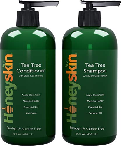 Tea Tree Oil Shampoo Conditioner Set - with Manuka Honey